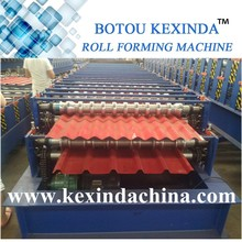 Double deck metal roof and wall tile production line on sale