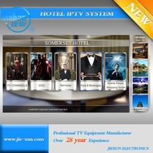 Maldives Hotel iptv Solution Live/Vod Programs ADS Inserted Interactive hotel iptv system with Management For EPG&Users&Billing
