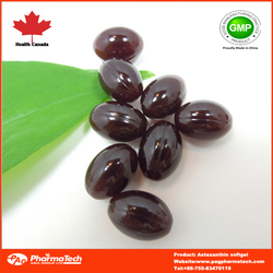 China Manufactured Dietary Supplement Astaxanthin Softgel