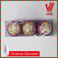 2015 x-mas tree ornaments Colorful jelly beans and purple glitter christmas decoration personalized christmas cupcake