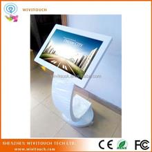 Touchscreen information kiosk free standing indoor application