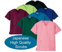 hospital uniform scrubs 100% polyester japanese fabric