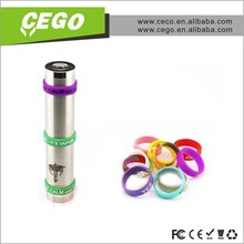 Health atomizer beauty ring for e cig,silicone ring e cig decorated silicone production