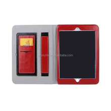 2015 hot selling leather case assorted colors hand holding stand case for iPad 2