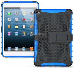 mobile accessories bumper premium soft TPU hard PC stand case for ipad mini 4