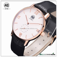 Watches with leather bracelet charms unisex ultra light wristwatch