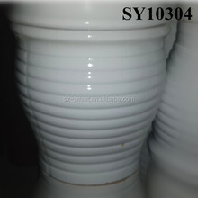 White glazed big ceramic door way pot