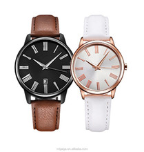 Restore Ancient Ways Couple Lover Wrist Watch With Retro Roman Numberal Marks Genuine Leather Strap