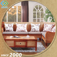 China Factory Rattan 8 Seater Italian Outdoor Wicker Sectional Sofa