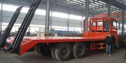 Good Quality Dongfeng DFL1250 6x4 falt bed transport truck for excavator