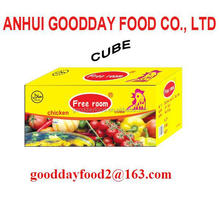 poulet flavour soup bouillon cube/soft cube/broth cube packed in 10g x 60cube x 24boxes/ctn hot selling in africa