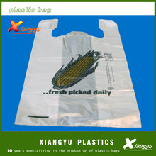 vest carrier bag/thank you t-shirt bags/plastic shopping bags