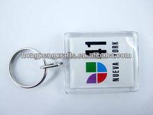 45*45mm square acrylic photo keychain