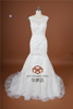 Actual Images SHMY-W148 Lace Appliqued Cap Sleeve Beaded Mermaid Wedding Dress