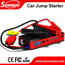 12v lithium(c) polymer battery 12000/14000mAh car jump starter kits with air compressor