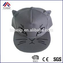 Poliéster personalizada sombrero de béisbol