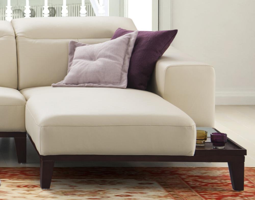 Última living room sofás de madera de diseño moderno sofá de ...