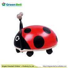 2015 hot sell wooden framework lovely baby walker( ladybug)