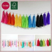 Party Decoration tassel tissue paper garland Event & Party Supplies hanging Tissue Paper Tassel Garland