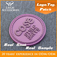 Custom high quantity good price plastic/rubber soft Chenille Labels/logos/patches for clothing luggage suitcase bag backpack