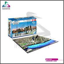 KIB-O1009 Landmarks Game 4D Cityscape Time Puzzle - Toronto, Canada