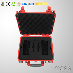 watertight shockproof modified PP precision device plastic case with handle