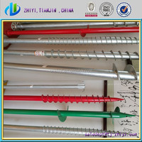 Hot Dipped Galvanized ground screw post anchor & ground screw pole make in China