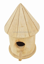 2015 year china suppliers selling FSC&SA8000 hanging garden wooden bird house for made in china
