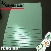 250g wood-free printed paper+ two-sided 15gPE+ single side Silicone Coating release grey paper