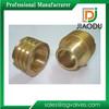 Newest most popular cnc machining brass nut/brass fastener