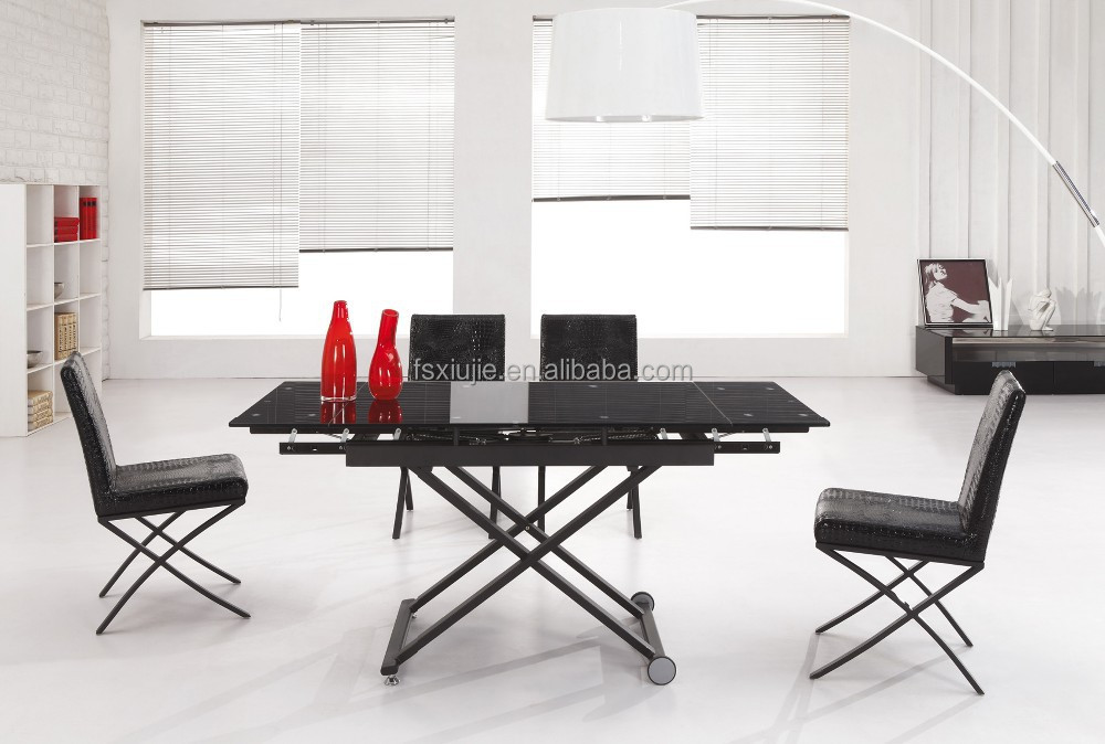 extension mechanism for table table and chair set glass dining table