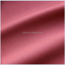 Shaoxing keqiao China high density cotton stretch satin fabric textile with tencel-like effect