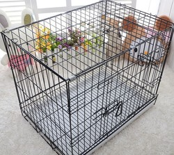Super commercial dog cage/foldable stainless steel dog cage singapore sale
