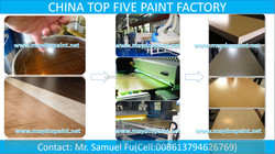 China TOP 5 Since 1995- Maydos Office Furniture MDF Board Paint /Wear Resistant UV Wood Clear Lacquer