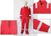 100 cotton red flame retardant acidproof water and oil resistant adult men coverall worker's wear