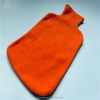 Winter Pure color polar fleece hot water bag cover