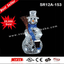 Battery powered LED snowman figurine