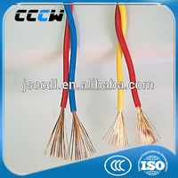 Copper core PVC insulated wind-up soft wire cable for connection