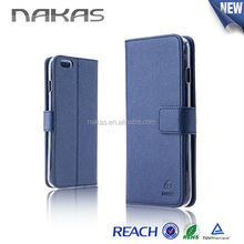 PU Flip Leather Case With Card Slot, Fashion Wallet Dairy Cover Case With Factory Price For iPhone 6 plus