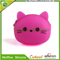 Fashion mini silicone rubber change purse popular used in young people