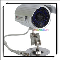 1 /4 for Sharp 420TVL Blue LED 75-type Waterproof IR Digital Color CCD Security CCTV Camera