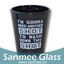 Promotional Black Shot Glass Cup For Vodka