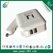 us floding plug 5v2.1a adapter /adaptor charger with cigarette lighter car charger