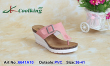 2015 New style fashion famous design Coolking PVC Slippers New design Wedge sandals cheap