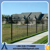 2015 high quality hot sale villa decorative fencing 3 rails wrought iron fence