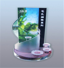 makeup handmade advertise acrylic cosmetic display