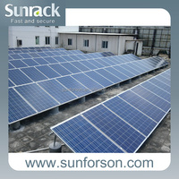 Fixed mounting solar panels for home
