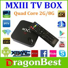 Better than MX2 quad core 2.0ghz 8G ROM 2.4G/5G wifi ultra hd amlogic S802 MX3 google android 4.4 tv box