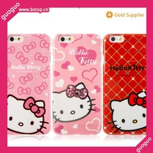 Factory Wholesale for iPhone 6 Cartoon Hello kitty Plastic cover Case