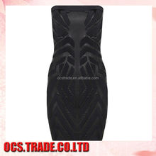 Best Selling broadcloth off the shoulder evening dress pattern